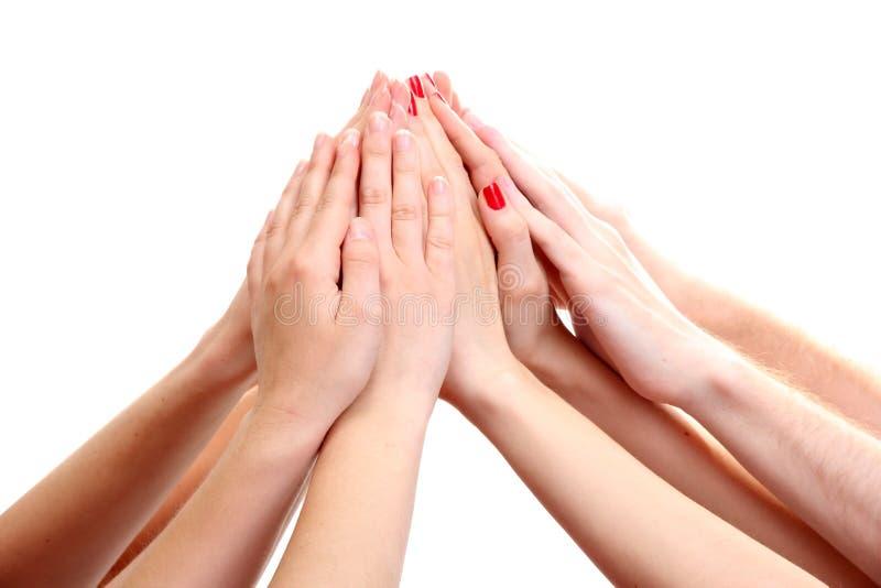 Ομάδα χεριών των νέων στοκ εικόνα με δικαίωμα ελεύθερης χρήσης