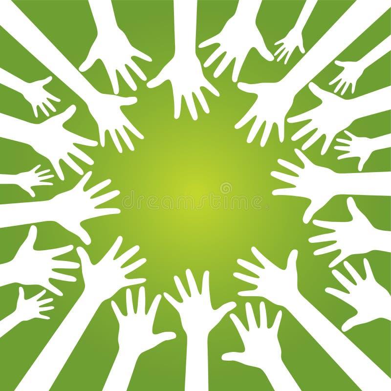 ομάδα χεριών ελεύθερη απεικόνιση δικαιώματος