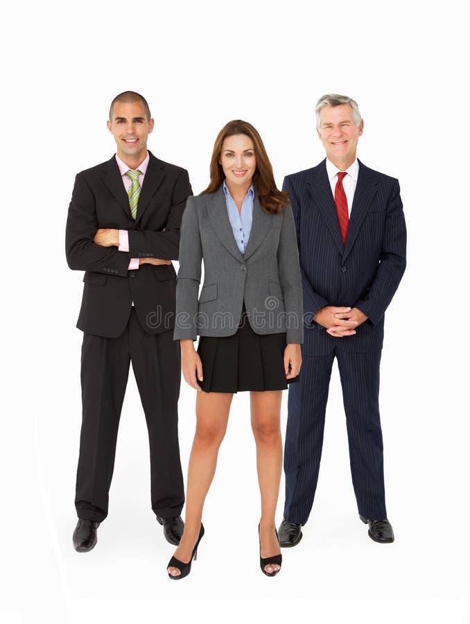 Ομάδα Businesspeople στο στούντιο στοκ εικόνες με δικαίωμα ελεύθερης χρήσης