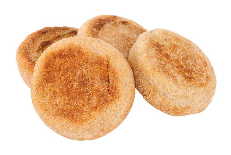 Ομάδα Wholemeal αγγλικά Muffins στοκ φωτογραφία