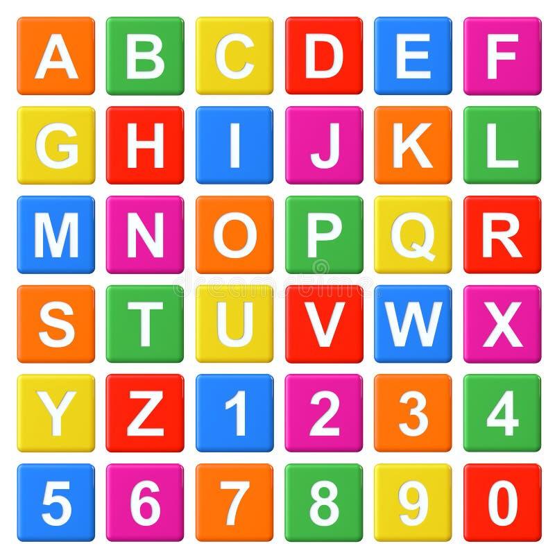 Ομάδες δεδομένων μωρών αλφάβητου απεικόνιση αποθεμάτων