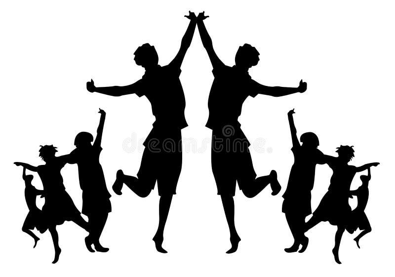 ομάδες παιδιών διανυσματική απεικόνιση