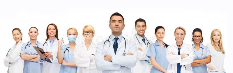 Ομάδα γιατρών με τα στηθοσκόπια στοκ φωτογραφίες