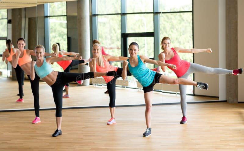 Ομάδα γυναικών που επιλύουν στη γυμναστική στοκ φωτογραφία με δικαίωμα ελεύθερης χρήσης