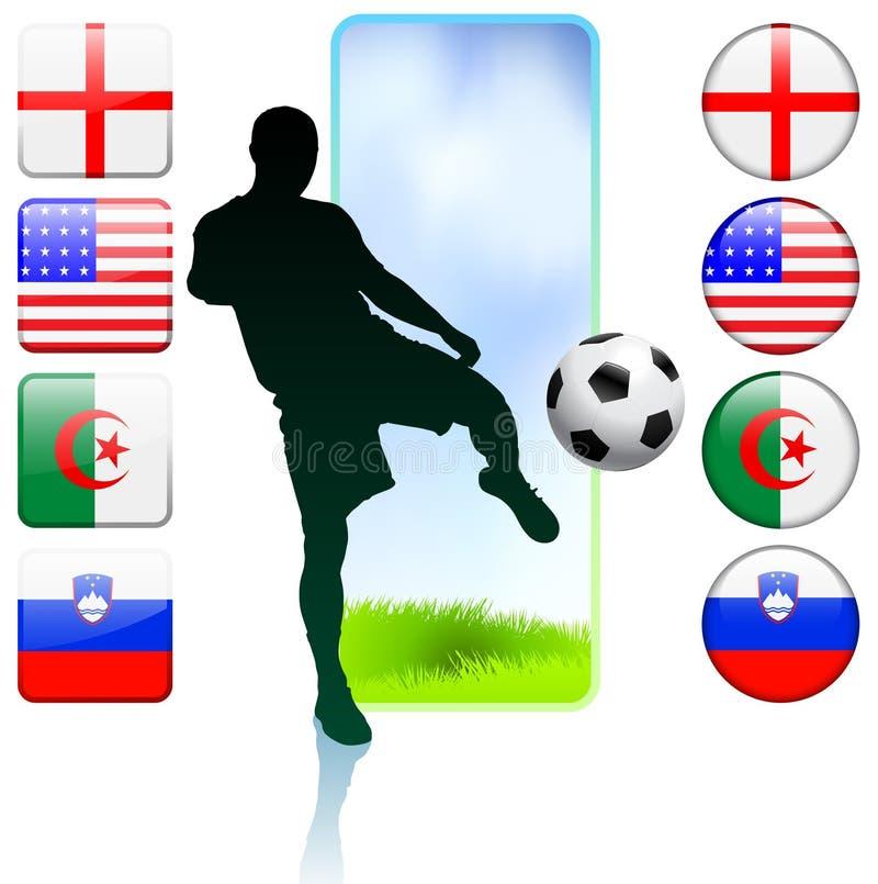 Ομάδα Γ ποδοσφαίρου/ποδοσφαίρου ελεύθερη απεικόνιση δικαιώματος