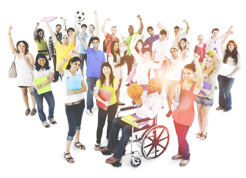 Ομάδα εκπαίδευσης έννοιας εκμάθησης ενότητας σπουδαστών στοκ φωτογραφίες
