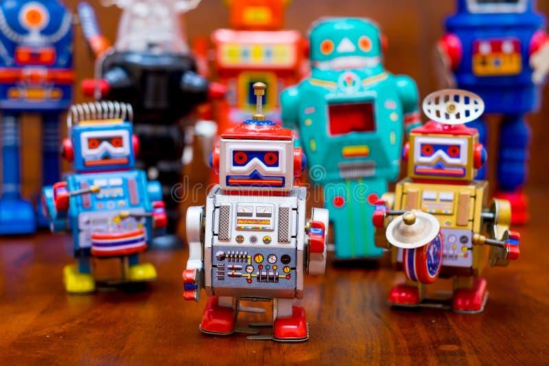 Ομάδα εκλεκτής ποιότητας ρομπότ στοκ εικόνα