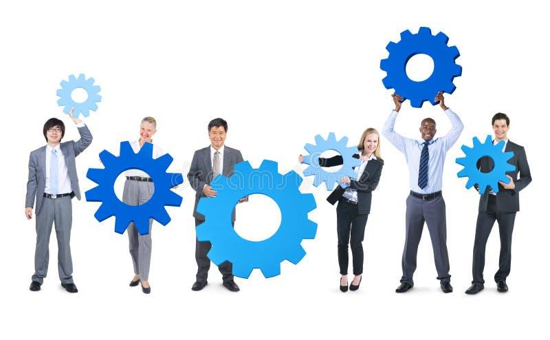 Ομάδα επιχειρηματιών με τα εργαλεία στοκ εικόνες με δικαίωμα ελεύθερης χρήσης