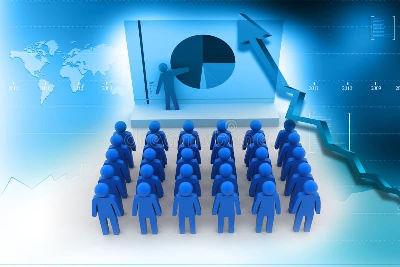 Ομάδα επιχειρηματιών με το διάγραμμα πιτών ελεύθερη απεικόνιση δικαιώματος