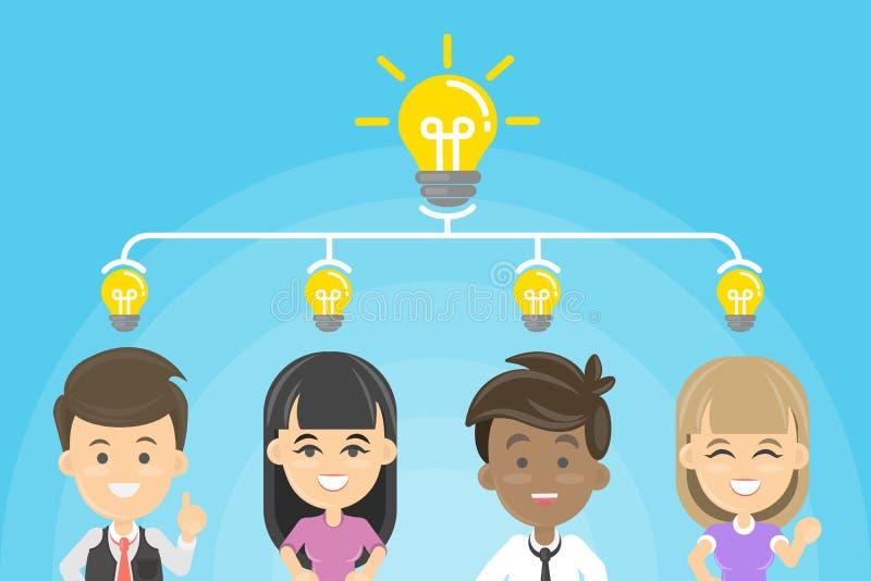 Ομάδα, εργασία, ιδέα διανυσματική απεικόνιση