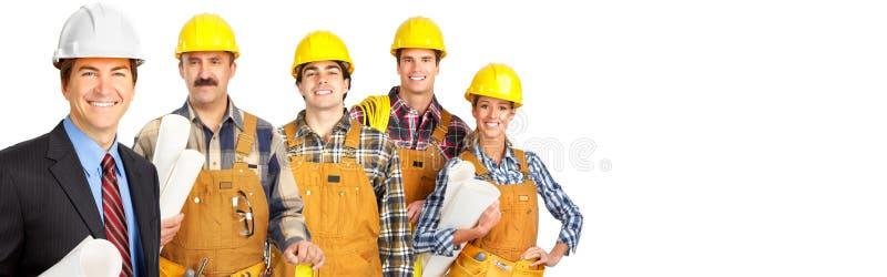 Ομάδα εργατών οικοδομών στοκ φωτογραφία