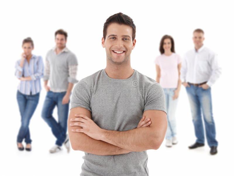 Ομάδα ευτυχών νέων στοκ φωτογραφία με δικαίωμα ελεύθερης χρήσης