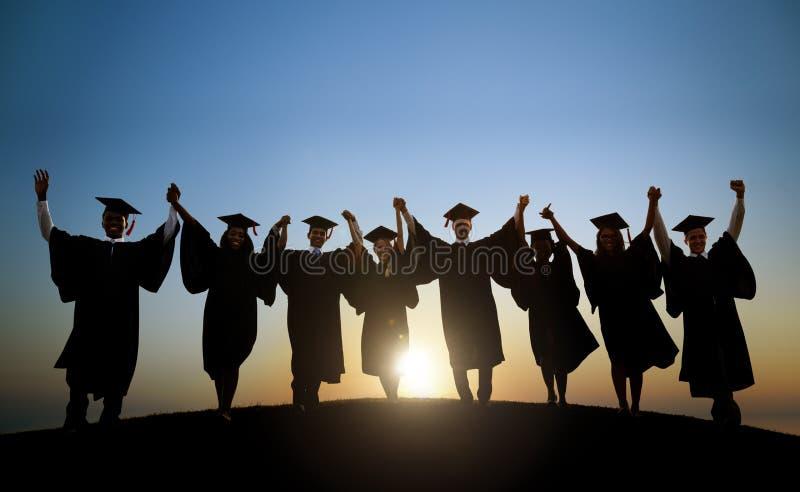 Ομάδα διεθνούς εορτασμού σπουδαστών στοκ εικόνες