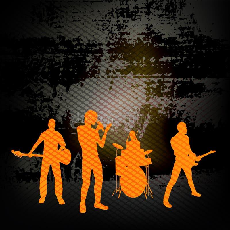 Ομάδα κιθάρων διανυσματική απεικόνιση