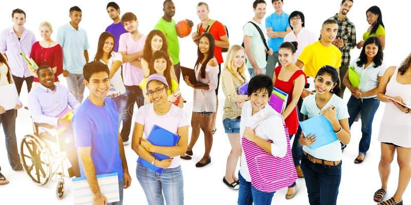 Ομάδα κοινοτικής έννοιας ενότητας σπουδαστών στοκ εικόνες με δικαίωμα ελεύθερης χρήσης