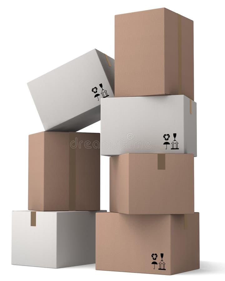Ομάδα κουτιών από χαρτόνι. στοκ εικόνες με δικαίωμα ελεύθερης χρήσης