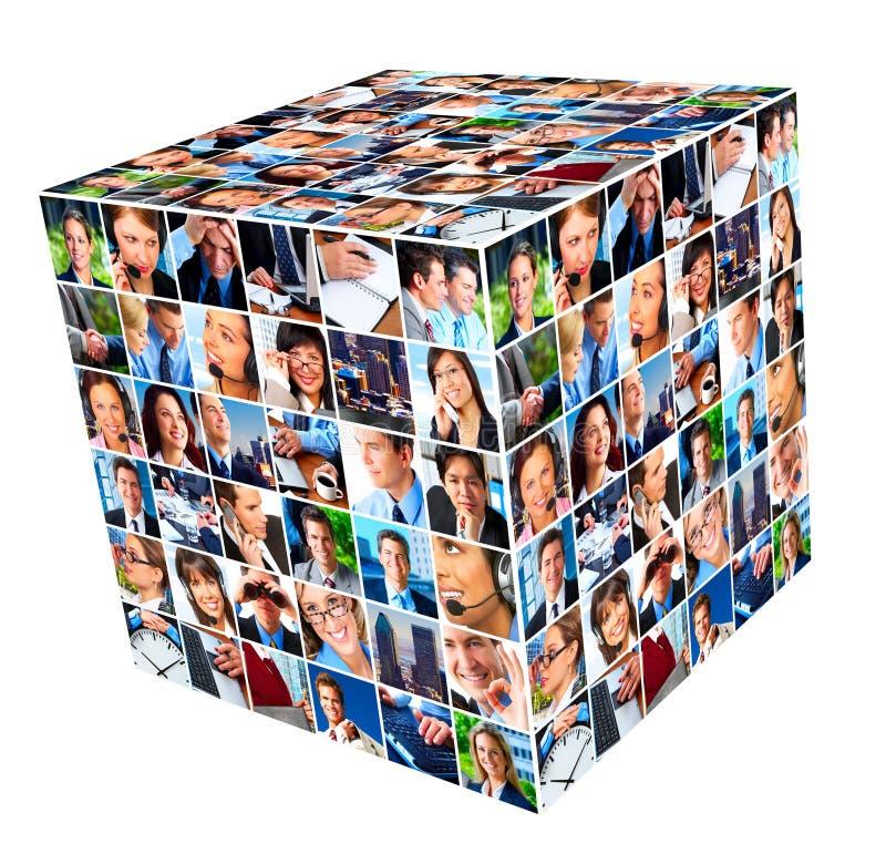 Ομάδα κολάζ επιχειρηματιών. στοκ εικόνες