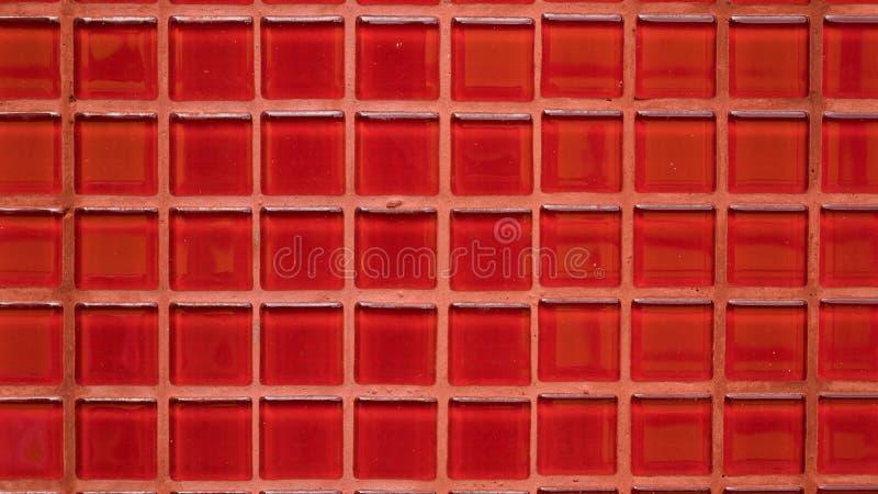 Ομάδα κόκκινου υποβάθρου σύστασης κεραμιδιών στοκ εικόνες με δικαίωμα ελεύθερης χρήσης