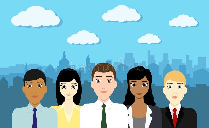 Ομάδα ξεκινήματος επιχειρηματιών ελεύθερη απεικόνιση δικαιώματος