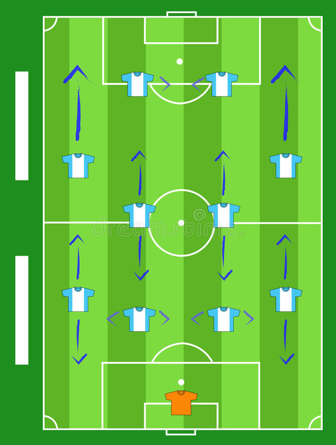 Ομάδα παιχνιδιών γηπέδων ποδοσφαίρου και παιχνιδιών ελεύθερη απεικόνιση δικαιώματος