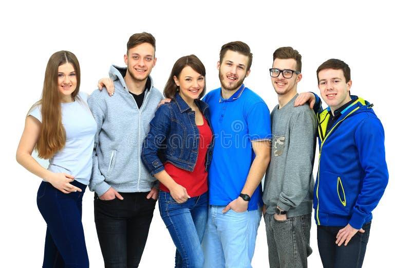 Ομάδα παραμονής φίλων χαμόγελου στοκ φωτογραφία με δικαίωμα ελεύθερης χρήσης