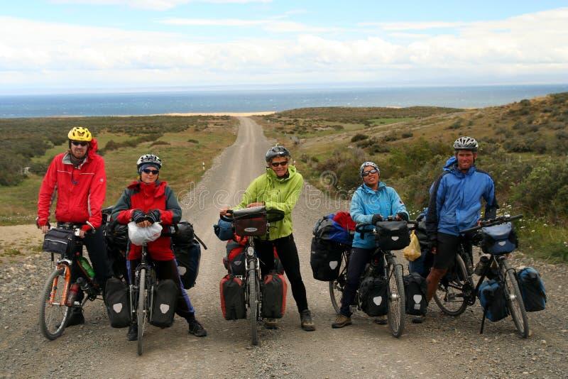 Ομάδα ποδηλατών στοκ εικόνα