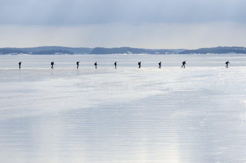 Ομάδα σκέιτερ πάγου στοκ φωτογραφία
