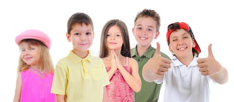 Ομάδα τοποθέτησης παιδιών στοκ εικόνα με δικαίωμα ελεύθερης χρήσης