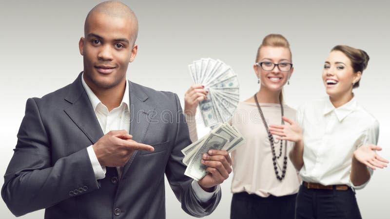 Ομάδα των νέων επιτυχών επιχειρηματιών στοκ εικόνες