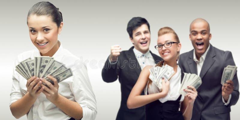 Ομάδα των νέων επιτυχών επιχειρηματιών στοκ φωτογραφίες με δικαίωμα ελεύθερης χρήσης