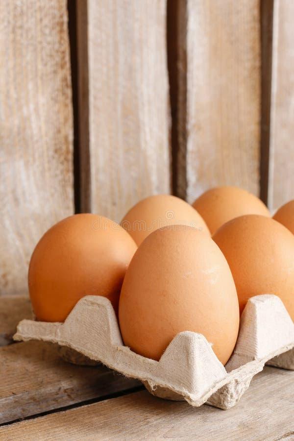 Ομάδα φρέσκων αυγών στο δίσκο εγγράφου στοκ φωτογραφία με δικαίωμα ελεύθερης χρήσης
