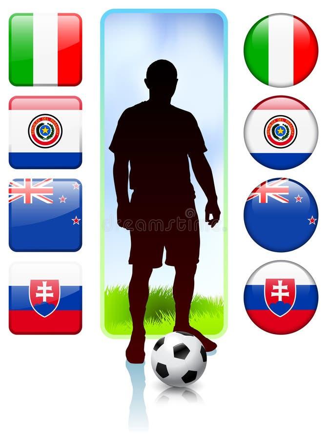 Ομάδα Φ ποδοσφαίρου/ποδοσφαίρου ελεύθερη απεικόνιση δικαιώματος