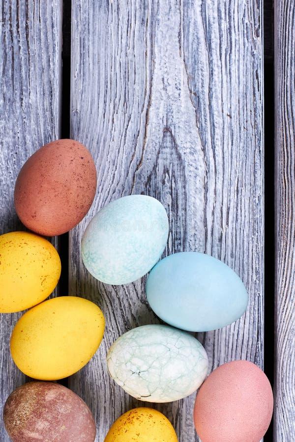 Ομάδα χρωματισμένων αυγών στοκ εικόνες με δικαίωμα ελεύθερης χρήσης