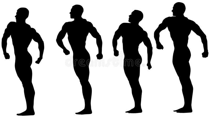 Ομάδα bodybuilders αθλητών ελεύθερη απεικόνιση δικαιώματος