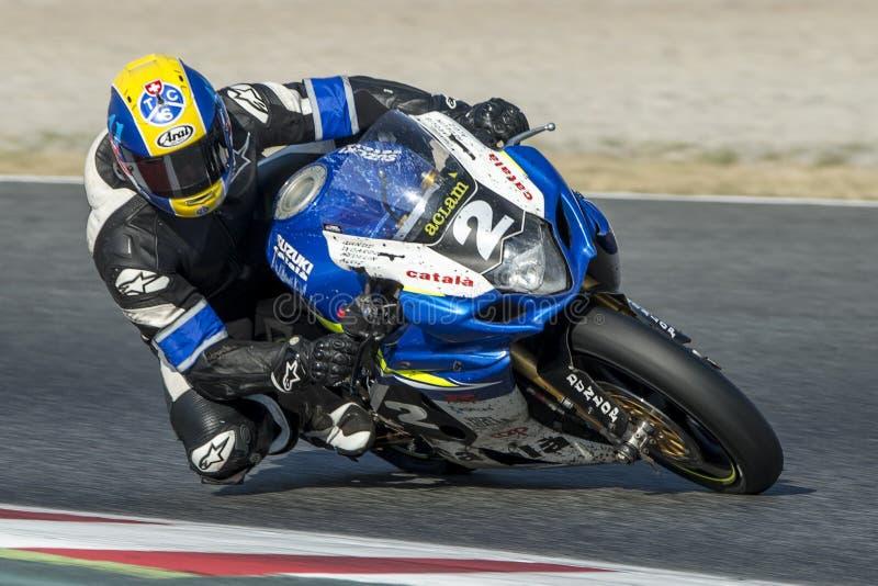 Ομάδα Catala Suzuki 24 ώρες Motorcycling Catalunya στοκ εικόνα