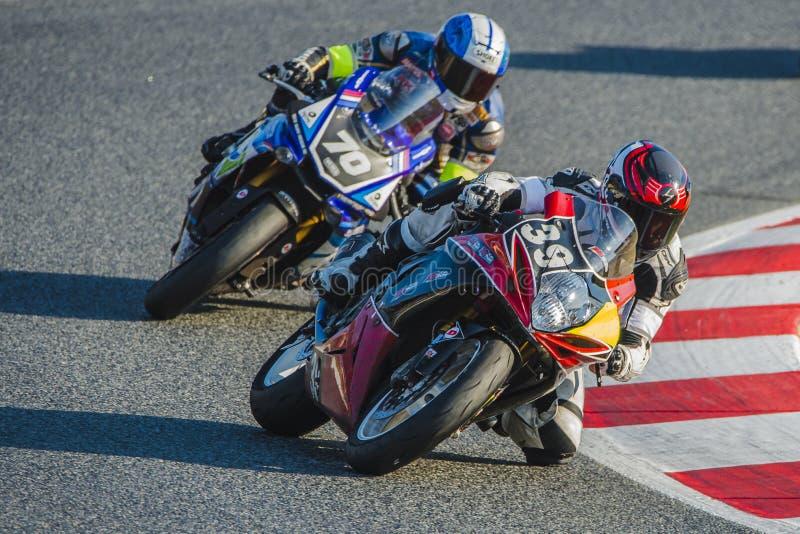 Ομάδα Dafy Moto Angers 24 ώρες Motorcycling Catalunya στοκ εικόνες