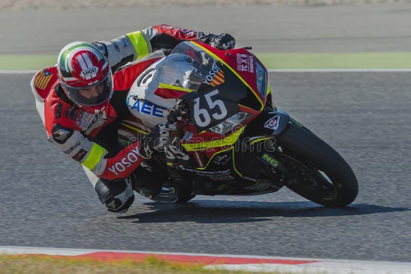 Ομάδα TCXB & Enervats 24 ώρες Motorcycling Catalunya στο κύκλωμα της Καταλωνίας στοκ φωτογραφίες