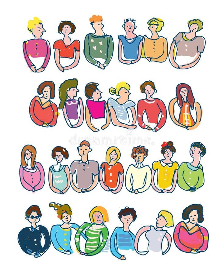 Ομάδες ανθρώπων για τα εμβλήματα ελεύθερη απεικόνιση δικαιώματος