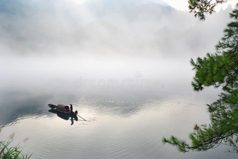 ομίχλη βαρκών στοκ φωτογραφίες με δικαίωμα ελεύθερης χρήσης