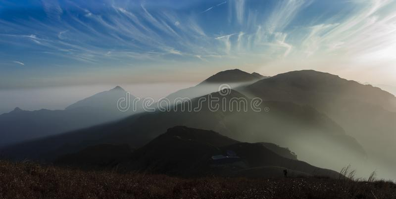 Ομίχλη Wugong βουνών στοκ εικόνες με δικαίωμα ελεύθερης χρήσης