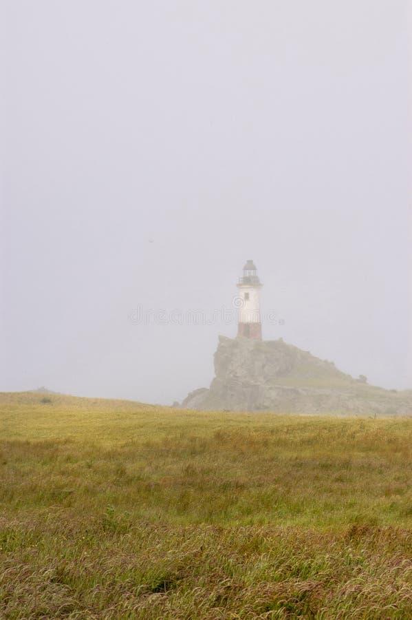 Ομίχλη στο φάρο στοκ εικόνα