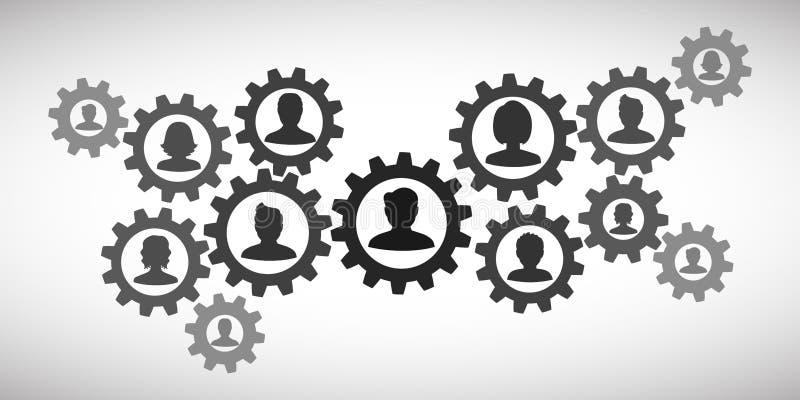 Ομαδική εργασία έννοιας, προσωπικό, συνεργασία - για το απόθεμα διανυσματική απεικόνιση