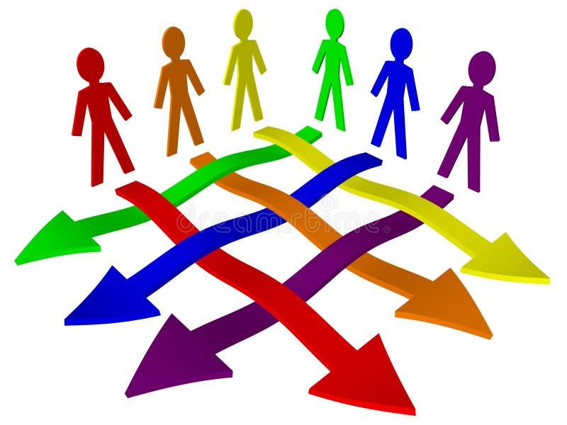ομαδική εργασία ομάδων ε&p απεικόνιση αποθεμάτων