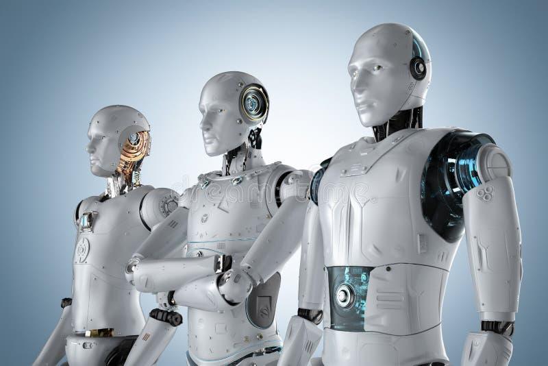 Ομαδική εργασία τεχνητής νοημοσύνης απεικόνιση αποθεμάτων