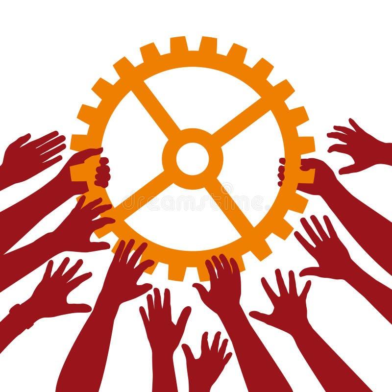 Ομαδική εργασία ελεύθερη απεικόνιση δικαιώματος