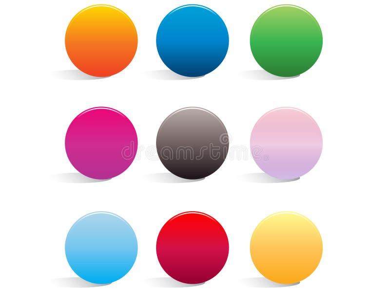ομαλός Ιστός κουμπιών διανυσματική απεικόνιση
