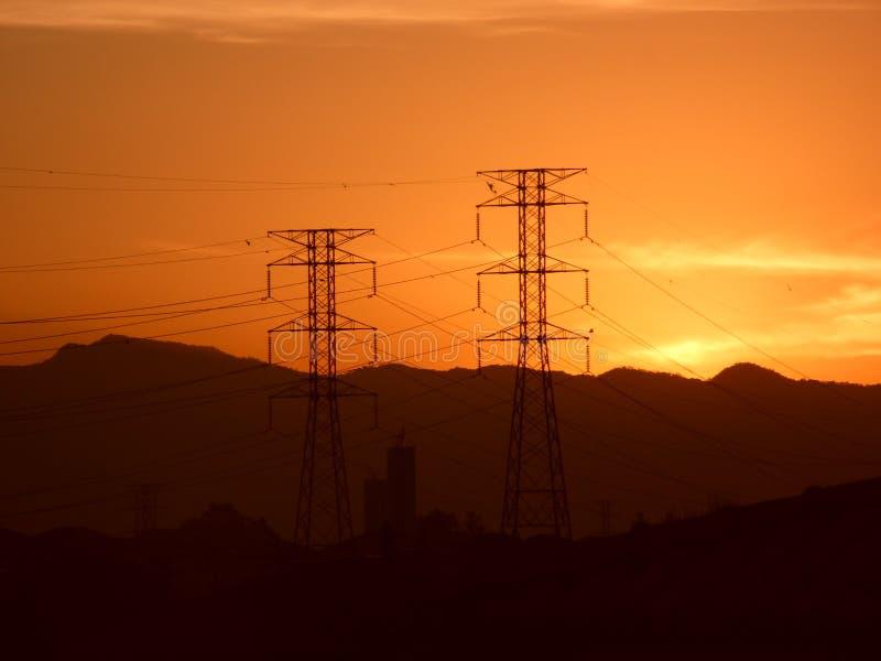Ομαλός pylon ορίζοντας πρωινού Ρίο ντε Τζανέιρο, Βραζιλία στοκ φωτογραφία με δικαίωμα ελεύθερης χρήσης