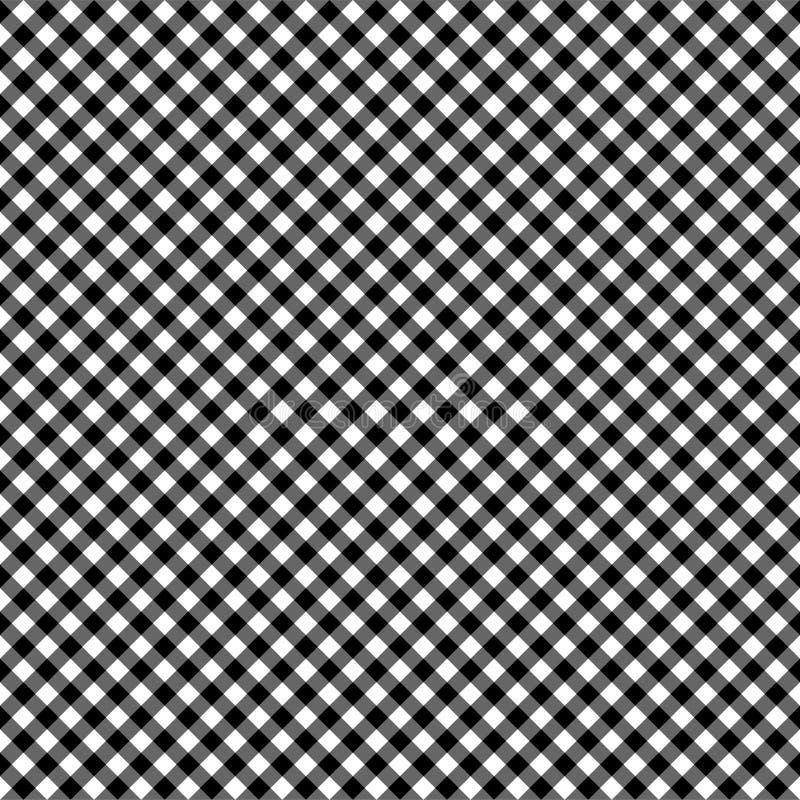 Ομαλό διαγώνιο Gingham άνευ ραφής σχέδιο απεικόνιση αποθεμάτων