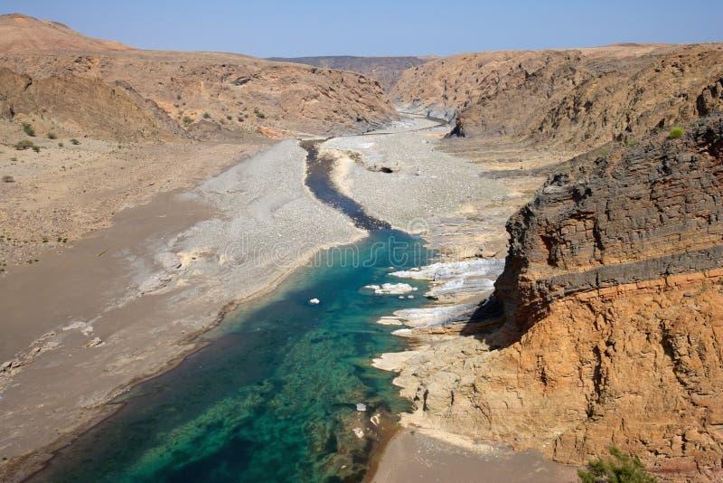 Ομανικό Wadi στοκ εικόνες