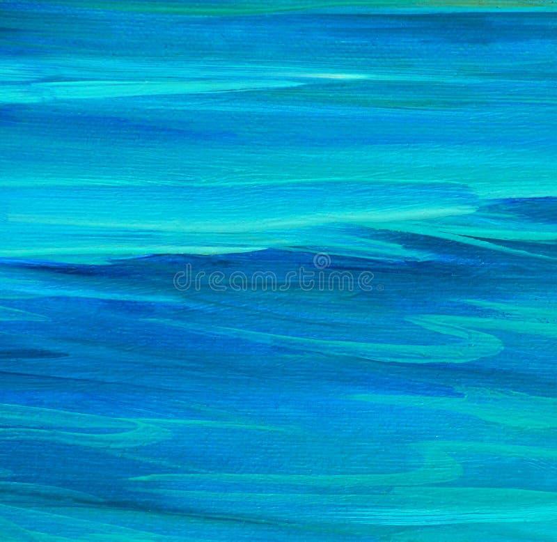 Ομαλή επιφάνεια θάλασσας, που χρωματίζει από το πετρέλαιο στον καμβά στοκ εικόνα με δικαίωμα ελεύθερης χρήσης
